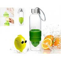 Бутылка соковыжималка с узким горлышком Green