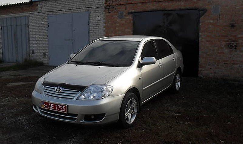 Дефлектор капота (мухобойка) Тойота COROLLA 2000-2006
