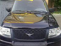 Дефлектор капота (мухобойка) UAZ Patriot 2005-