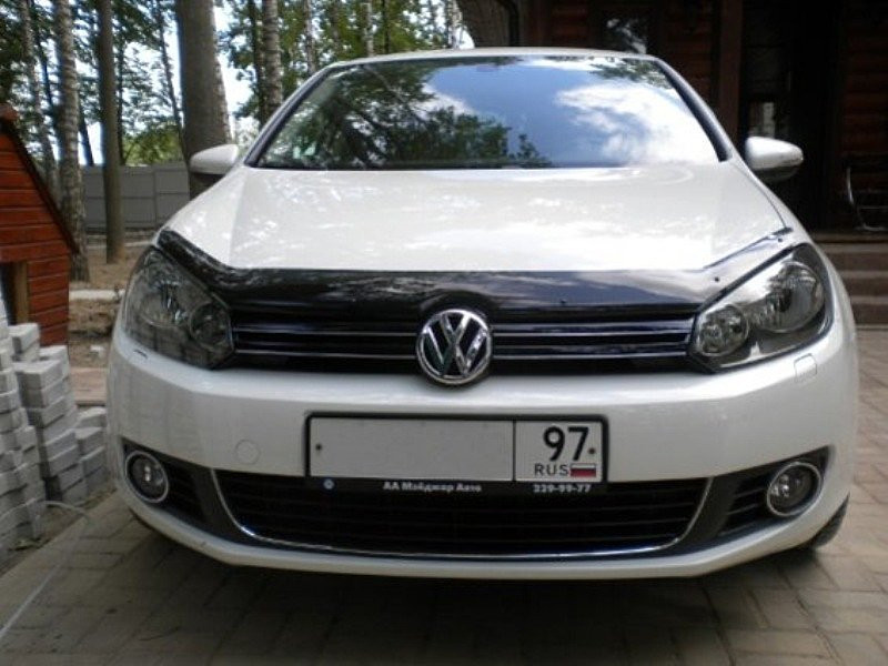 Дефлектор капота (мухобойка) Volkswagen GOLF VI 2009-2012