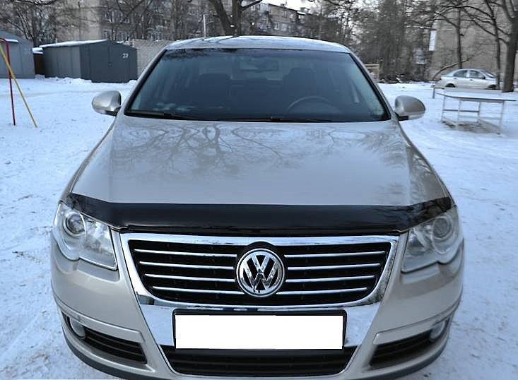 Дефлектор капота (мухобойка) Volkswagen Passat (B6) 2006-2010
