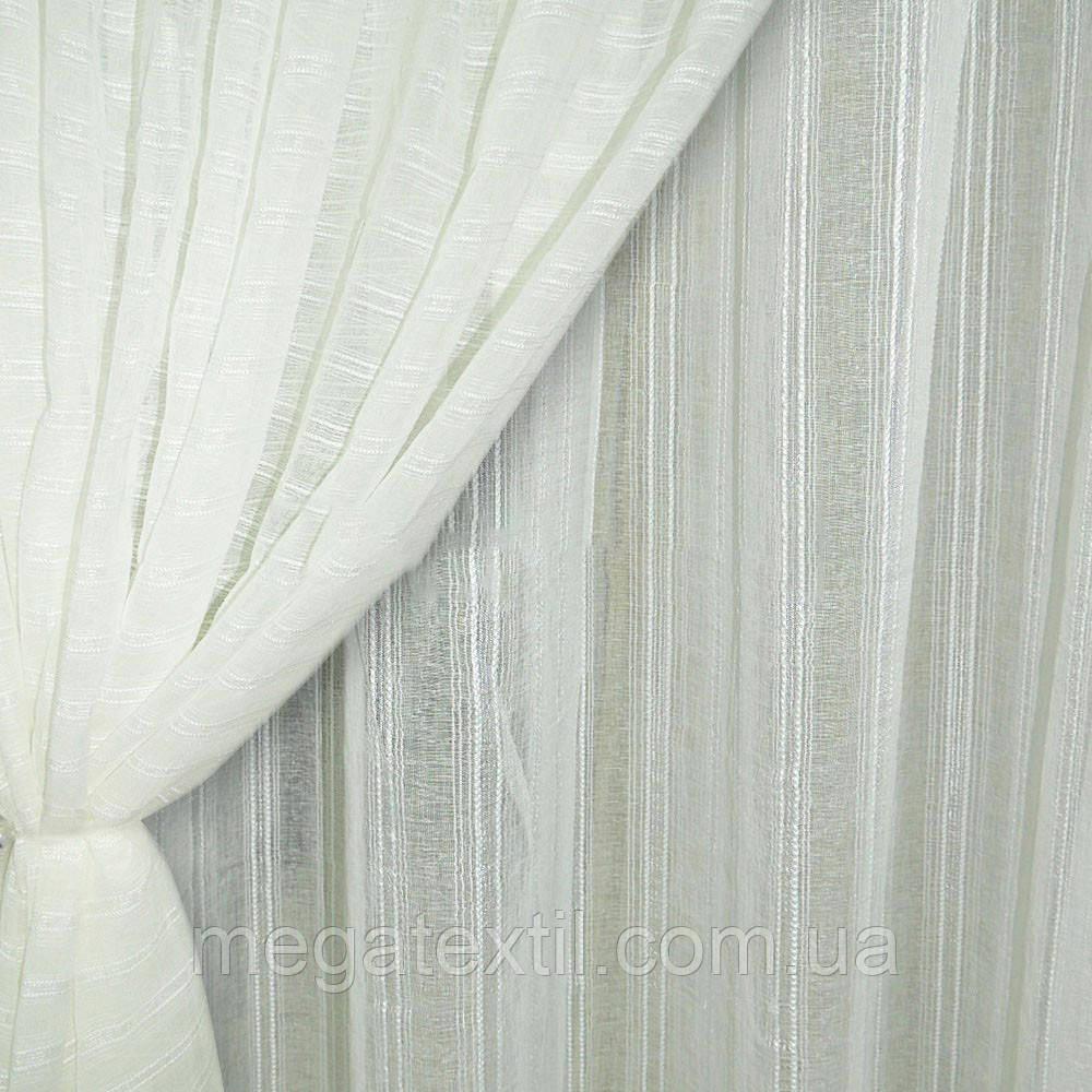 Льон французький білий з крученими смужками ш.280 (30412.008)