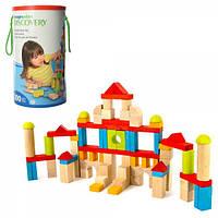 Деревянная игрушка Городок MD 1514  в колбе, крышка-сортер, 35,5-20,5-20,5см