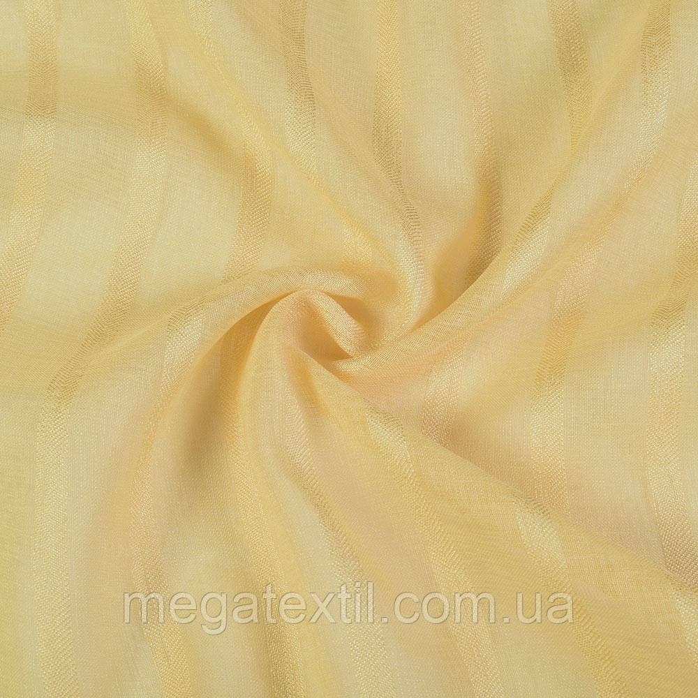 Льон французький жовтий в структурну смугу 1см * 3см ш.280 (30417.003)