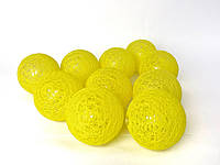 Декоративные тайские гирлянды Cotton Balls Желтые