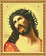 Схема для вышивки крестиком на канве Христос в терновом венце ИКан 3001