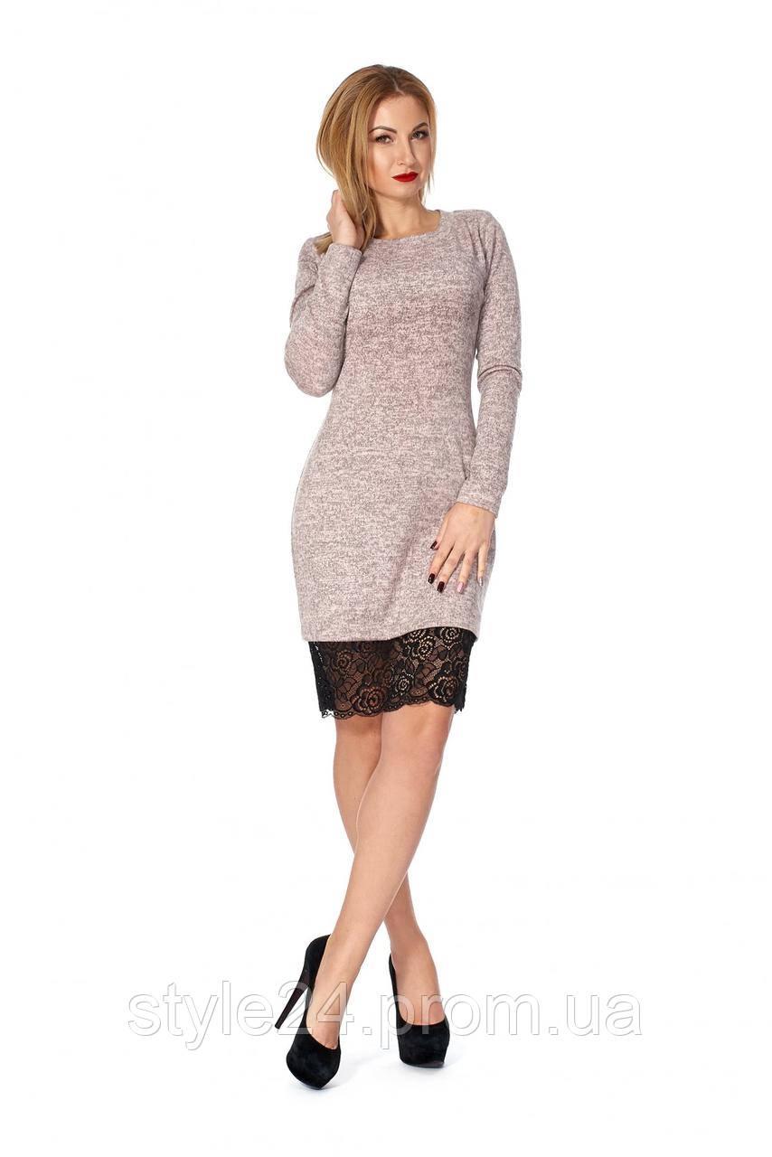 Шикарне ангорове  плаття   з гіпюром.Р-ри 42-50