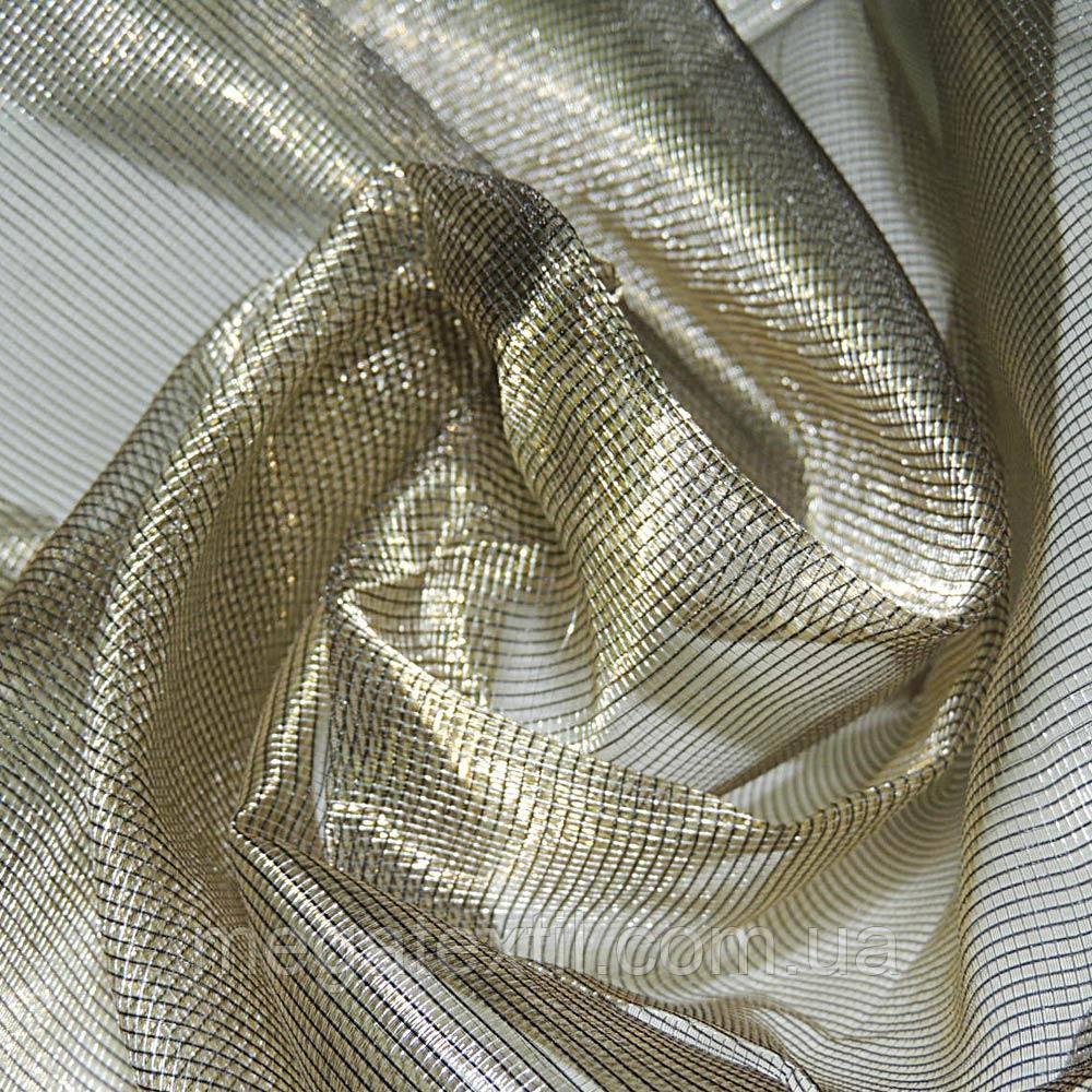 Кристал-органза бежева темна з золотим відливом хамелеон ш.280 (30507.004)