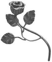 Кованая роза 240х140мм Арт. AD-50.102