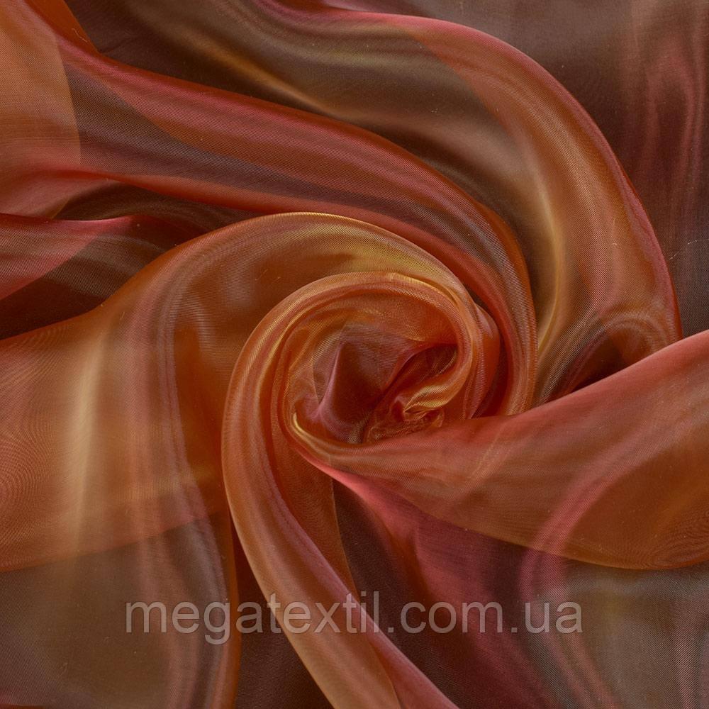 Органза червона темна з чорним відливом хамелеон (30509.027)