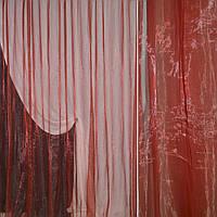 Органза тюль хамелеон бордовая, ш.280 (30509.059)