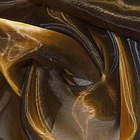Органза тюль хамелеон коричневая с оранжевым отливом, ш.280 (30512.004)