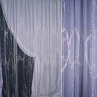 Органза тюль сиреневая с фиолетовым оттенком, ш.280 (30512.013)