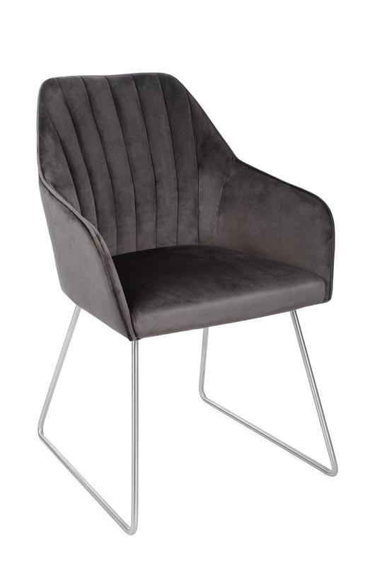 Кресло Benavente (Бенавенте) велюр антрацит от Niсolas