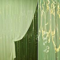 Органза зелена з жовтим відливом, ш.275 (30512.042)