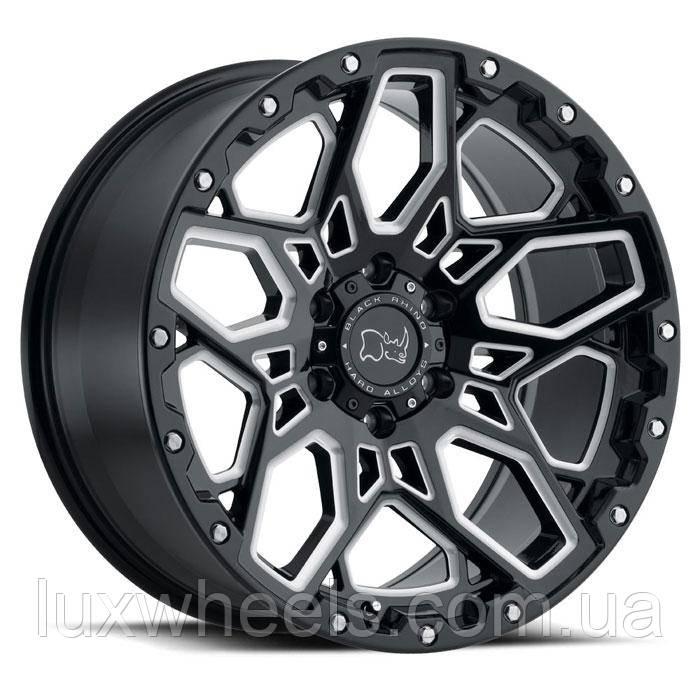 BLACK RHINO Shrapnel GLOSS BLACK W/ MILLED SPOKES