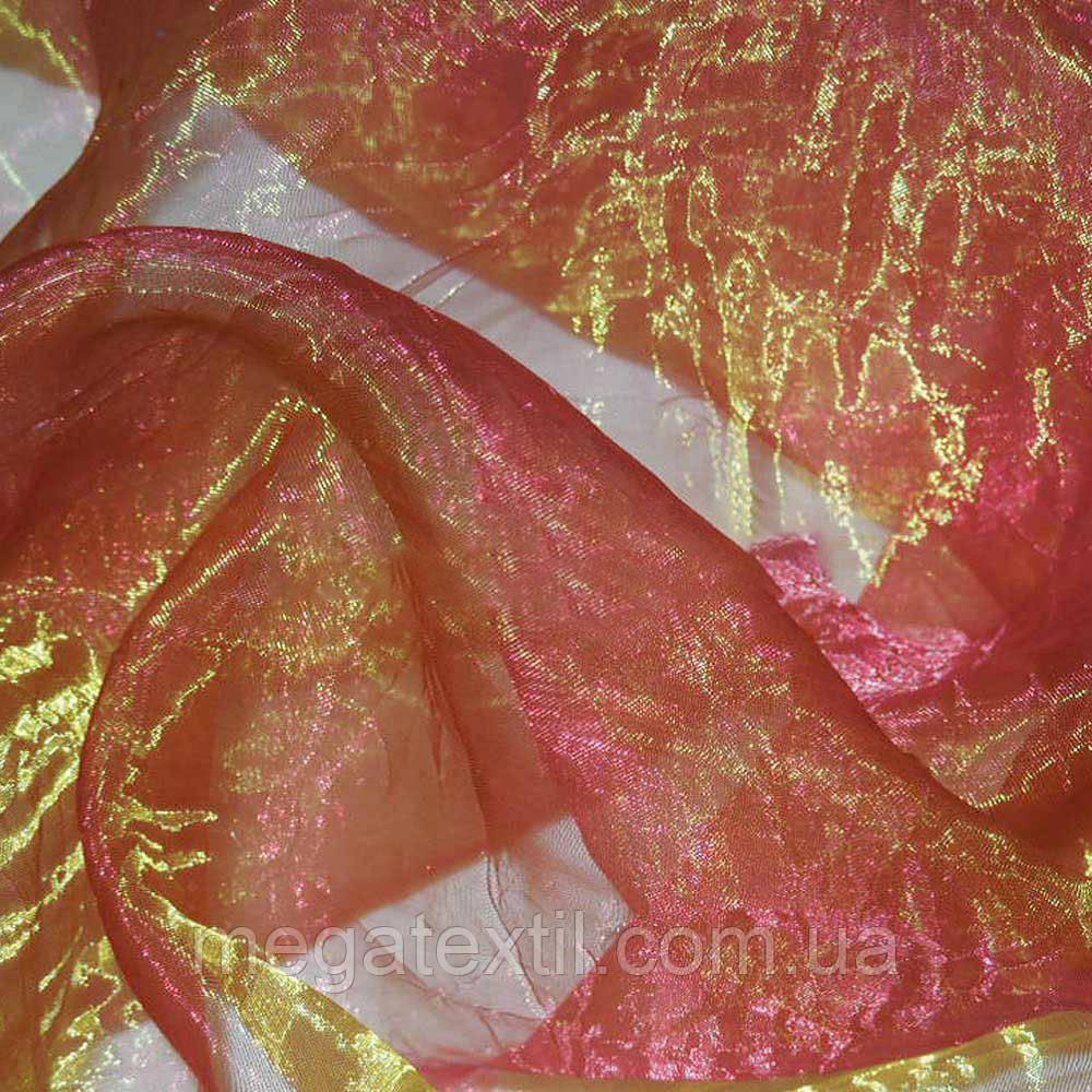 Органза жата малинова з золотим відливом ш.280 (30514.020)