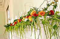 Цветочное оформление свадеб, букет невесты, композиции на стол, арка из цветов, бутоньерки, украшение бокалов