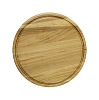 Дошка кухонна дерев'яна кругла  30*30*20см PDL (060016)