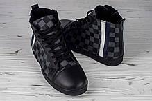 ae97e3dfd999a Мужские высокие зимние кеды Louis Vuitton шахматы топ реплика, фото 2