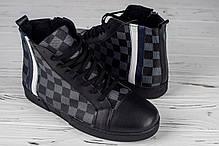 114909d9c29b6 Мужские высокие зимние кеды Louis Vuitton шахматы топ реплика, фото 3