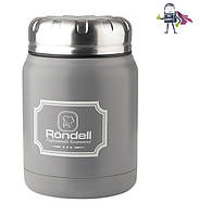 Термос для еды и напитков, из нержавеющей стали 0,5л, Röndell Picnic Grey (арт.RDS-943)