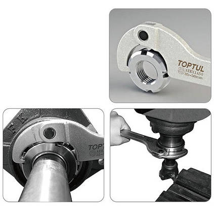 Ключ шарнірний для круглих шліцьових гайок 13-35мм Toptul AEEX1A35, фото 2