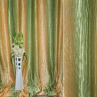 Атлас жатий бежево-жовтий + оливковий веселка ш.275 (31001.001)