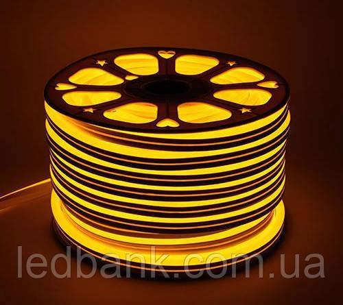 Светодиодный гибкий неон 220В 2835 120 LED Neon Flex IP65 Золотой