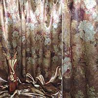 Блекаут темне золото з квітами ш.275 (31011.005)