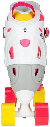 Детские ролики регулируемые NIJDAM 52 SF 38-41 Розовый/Белый, фото 2