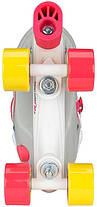 Детские ролики регулируемые NIJDAM 52 SF 38-41 Розовый/Белый, фото 3