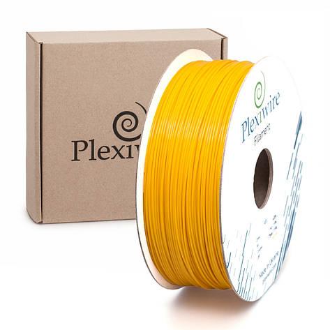 Пластик в котушці ABS+ 1,75 мм 1кг/400 м, Plexiwire, Жовтий, фото 2