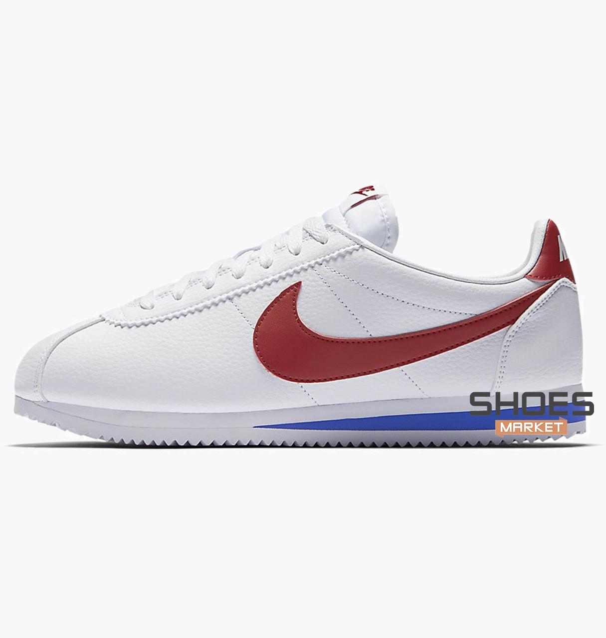 """Мужские кроссовки Nike Classic Cortez Leather """"Forrest Gump"""" 749571-154 Оригинал"""