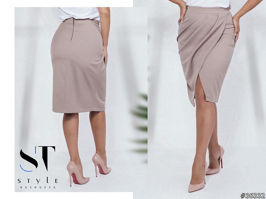 Стильная юбка миди длины  в стиле casual 42-44 44-46 46-48 50-52