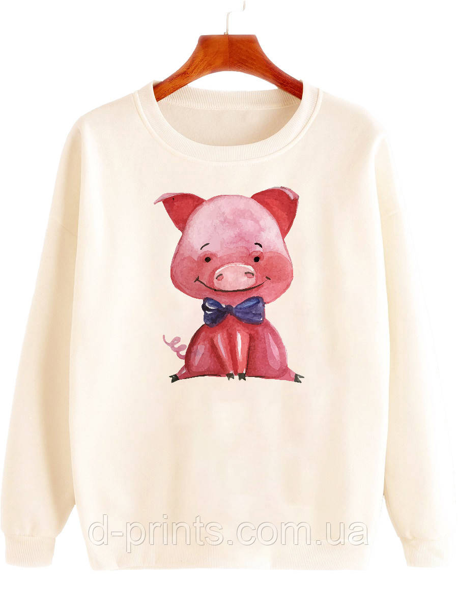 """Свитшот женский с рисунком """"Милая свинка"""""""