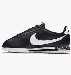 "Женские кроссовки Nike Classic Cortez Leather ""Black"" 807471-010 Оригинал"