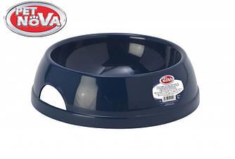 Миска пластиковая для собак Pet Nova 1450 мл Синяя