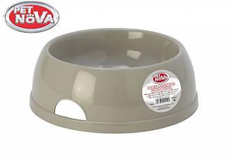 Миска пластиковая для собак Pet Nova 2.5 л Серая