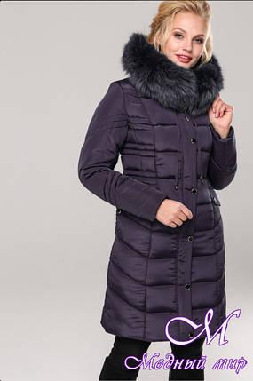 Женская длинная зимняя куртка батал (р. 48-64) арт. Дайкири, фото 2