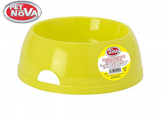 Миска пластиковая для собак Pet Nova 2.5 л Желтая