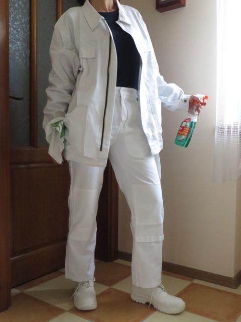 Комплект спецодежды куртка и брюки белые Wurth
