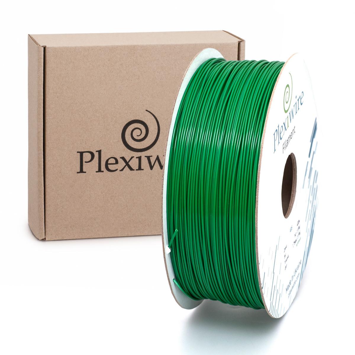 Пластик в котушці PETG 1,2 кг/400 м, Plexiwire, Зелений