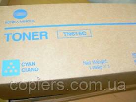 Toнер картридж TN615 C Konica Minolta Bizhub  PRESS C8000, оригинал, tn-615 c