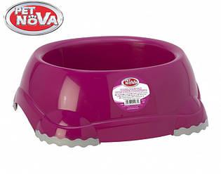 Миска нескользящая для собак Pet Nova 735 мл Розовая