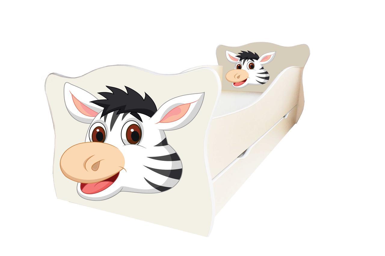 Детская кровать Animal 16 Зебра с ящиком 80х170