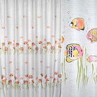 Ткань порт. белая с розовыми рыбками ш.280 ( 31600.002 )