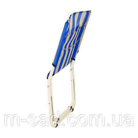 """Шезлонг """"Мини"""" d22 мм (сине-желтая полоса), фото 2"""