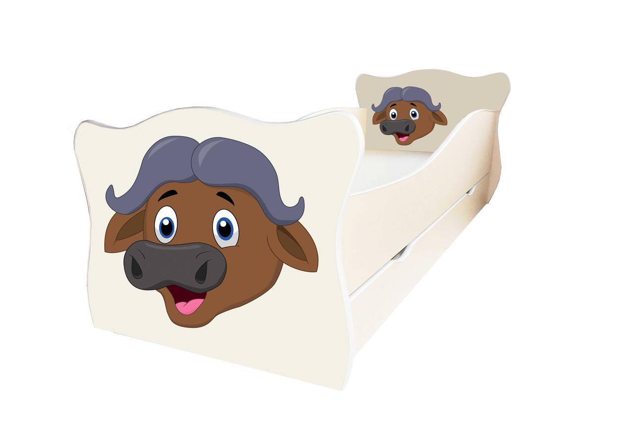 Детская кровать Animal 17 Буйвол с ящиком 80х170