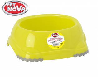 Миска нескользящая для собак Pet Nova 1.25 л Желтая